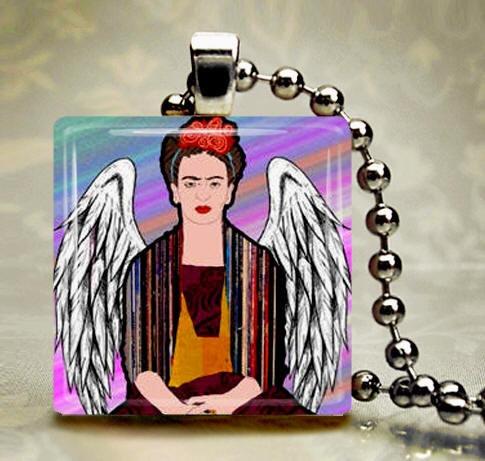 FRIDA Kahlo Jewelry  Mexican Folk Art Jewelry by HeatherGallerArt, $28.00