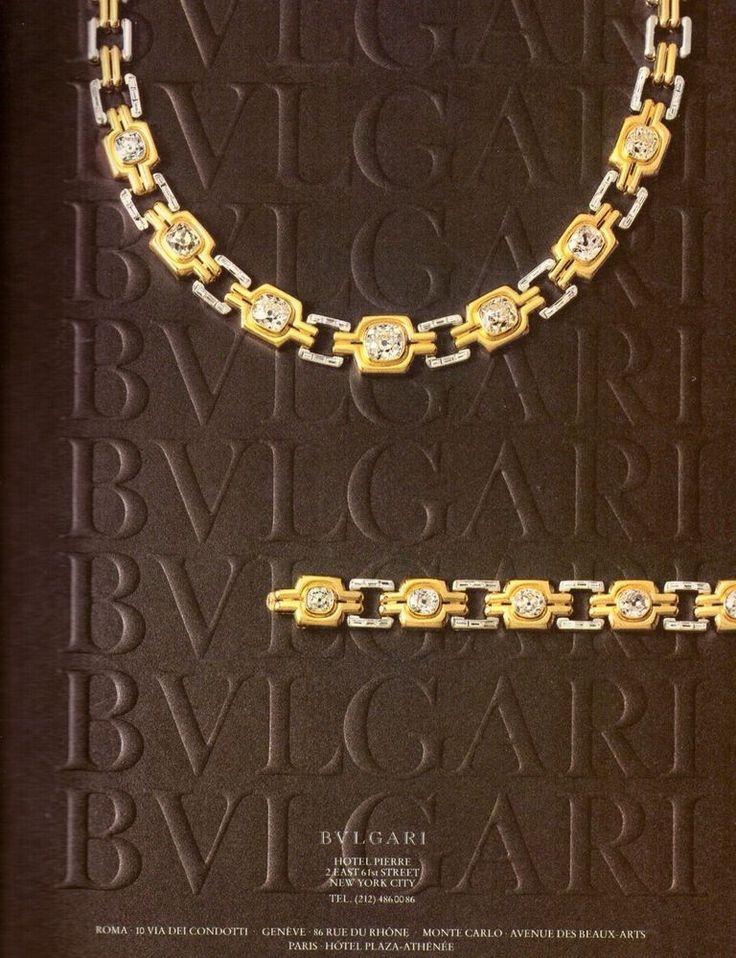 1980 Bvlgari Bulgari Jewellery Necklace Print Ad Vintage Advertisement VTG 80s | eBay