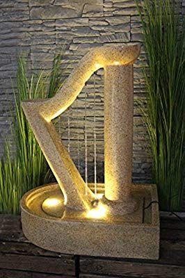 Gartenbrunnen Harfe Design Springbrunnen Mit Led Beleuchtung Zierbrunnen Neu Amazon De Garten Gartenbrunnen Selb Garden Design Garden Und Terrace