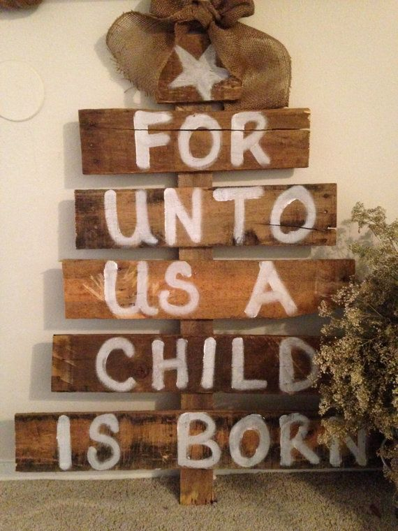 Wooden Christmas Tree Decor With Burlap By ClassyClassroomandCo, $35.00