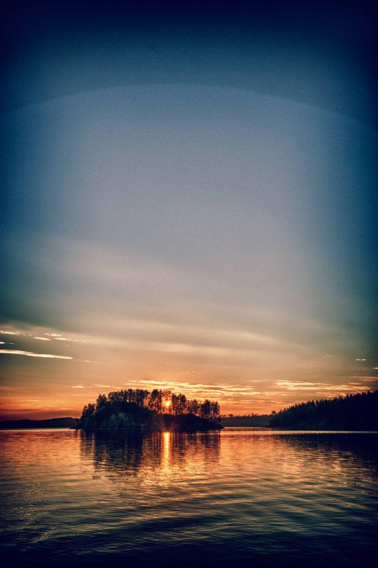 Sunset over Lake Saimaa Finland [2842x4682][OC]