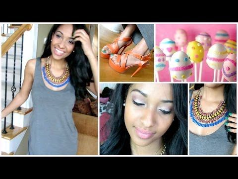 """Easter Hair,Makeup, & Outfit Idea!!!! - http://47beauty.com/easter-hairmakeup-outfit-idea/   """"THUMBS UP"""" this video if you enjoyed! (: Want to send me something? PO BOX 7170 Concord, North Carolina 28027  -Check out Betsey Monroe here: http://www.betseymonroe.com/ Use Code: """"FabulousInMaking"""" for free shipping! -You can get this Easter Makeup Look using BlackUp Cosmetics! Check them out here: http://www.blackupcosmetics.com/ -Want to get the"""