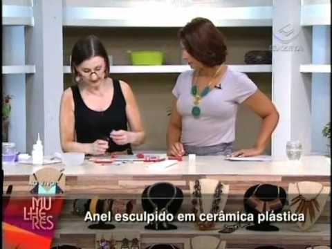 Beatriz Cominatto - Anel esculpido em cerâmica plástica (polymer clay)