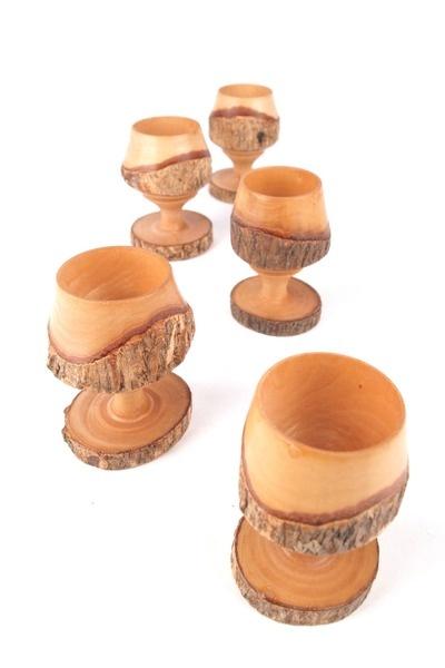 Vintage houten eierdopjes by Diversitijd via DaWanda