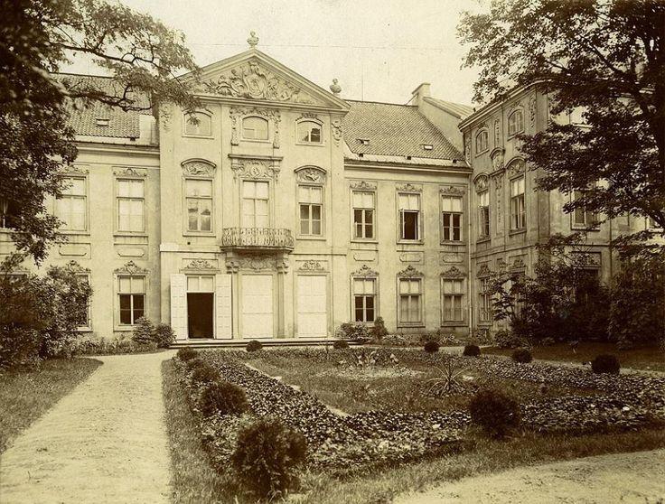 Pałac Czapskich, Krasińskich, Raczyńskich, Akademia Sztuk Pięknych fot. 1900-1910, IS PAN, źr. fotopolska.eu