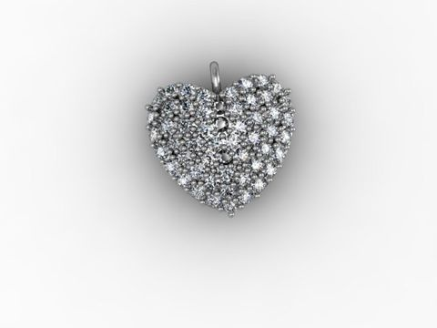 Beautiful Heart Charm - Chris Winspear designed it for Valentine's Day! The charm is available in diverse designs: from Silver to Platinum / from Cubics to Diamonds.