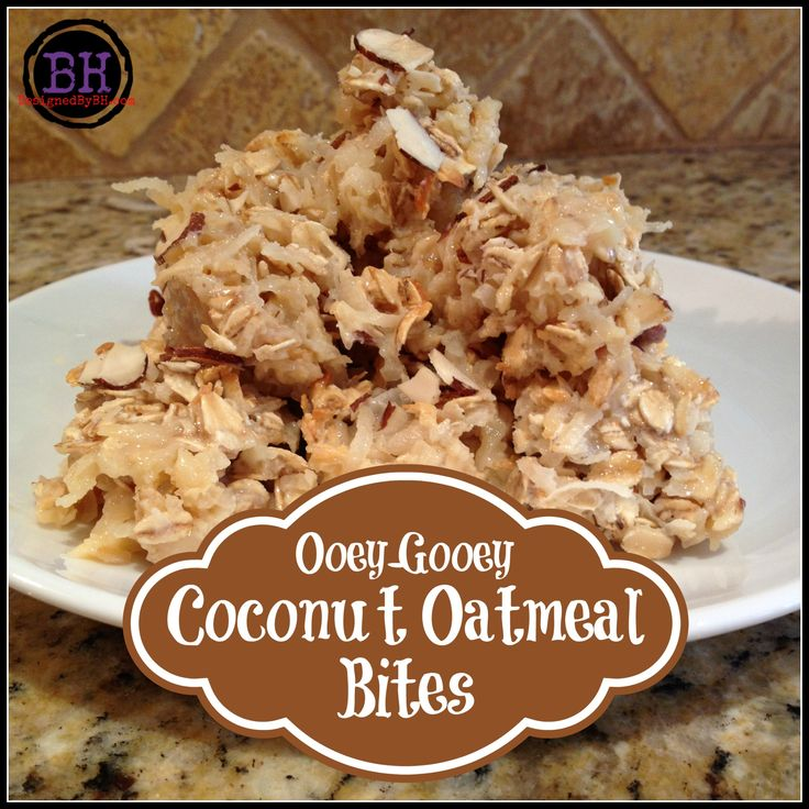Ooey Gooey Coconut Oatmeal Bites