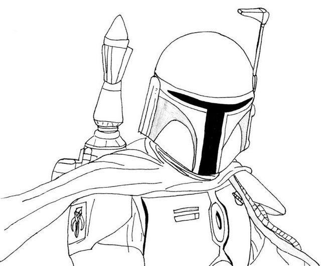 Boba Fett Coloring Sheets For Star Wars Fans Star Wars Drawings Helmet Drawing Cars Coloring Pages