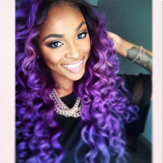 Remarkable 1000 Ideas About Purple Weave Hair On Pinterest Curly Sew In Short Hairstyles Gunalazisus