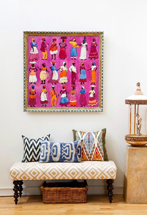 Ikat prints..love the color combo