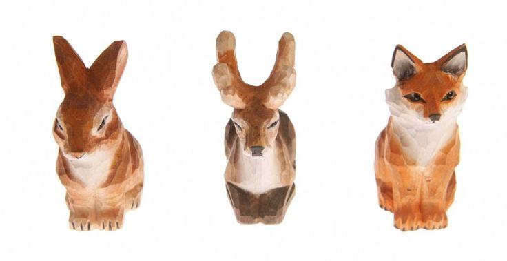 Houten puntenslijper in verschillende diersoorten.