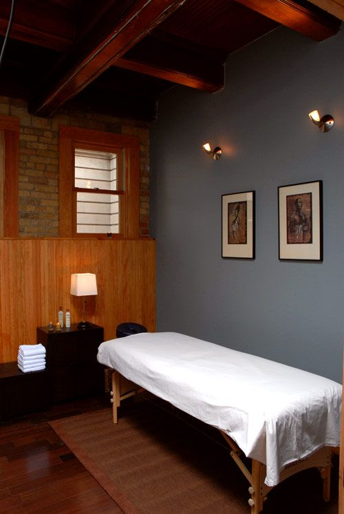 massage therapy room designs