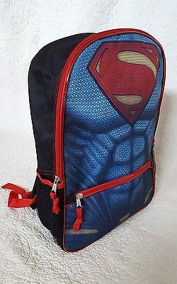 New Superman Backpack, Batman vs Superman Movie Themed, Boy Summer/School Gift