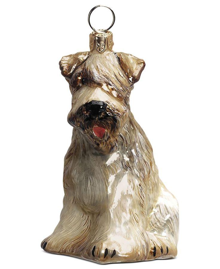 Joy to the World Wheaten Terrier Pet Charity Ornament