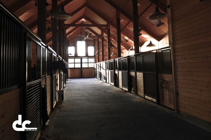 Gorgeous barn interior by master barn builders and Lighthoof retailer/installers DC Building.
