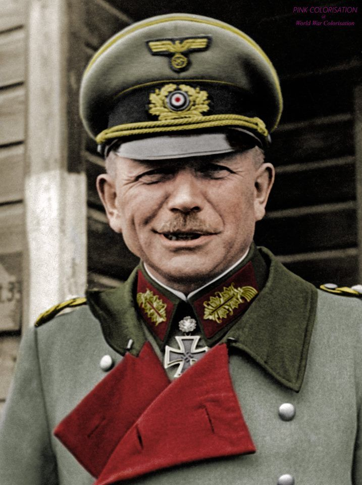 "Heinz Guderian ""Fast Heinz"" (June 17th 1888 - May 14th 1954) Guderian was Generaloberst during the World War II. He's one of the most famous German generals."