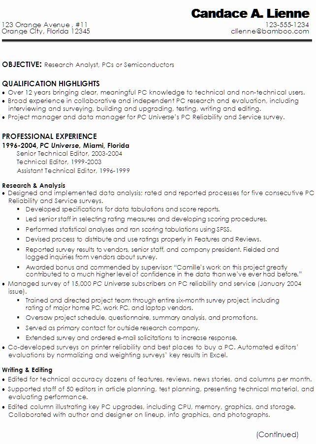 Technical Writer Resume Sample Best Of Sample Resume For A Technical Writer Or Research Analyst Resume Technical Writer Sample Resume Resume Examples