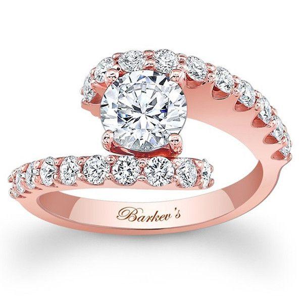 Barkev's Bypass Prong Set Diamond Engagement Ring