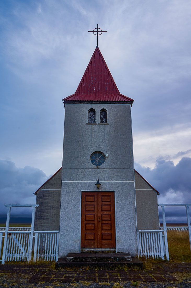Quirky church in the Snaefellsnes Peninsula in Iceland