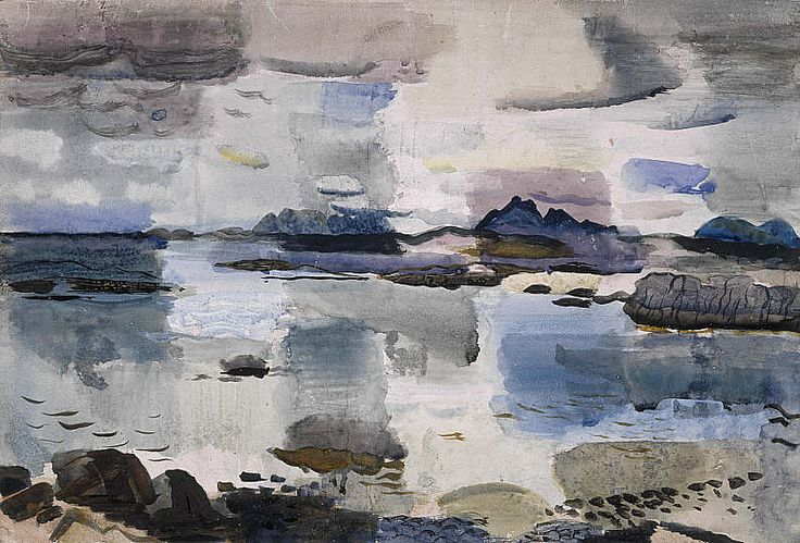Skye Hills from near Morar − Sir William Gillies − G − Artists A-Z − Online Collection − Collection − National Galleries of Scotland