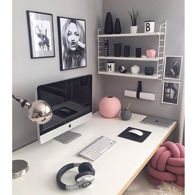 WEBSTA @ blackwhite.interior - Beautiful office ✨✨ Credit: @easyinterieur  #details #decor #office #inspo