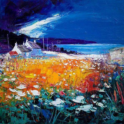 Autumn Light, Westport Kintyre Art Print by John Lowrie Morrison Easyart.com