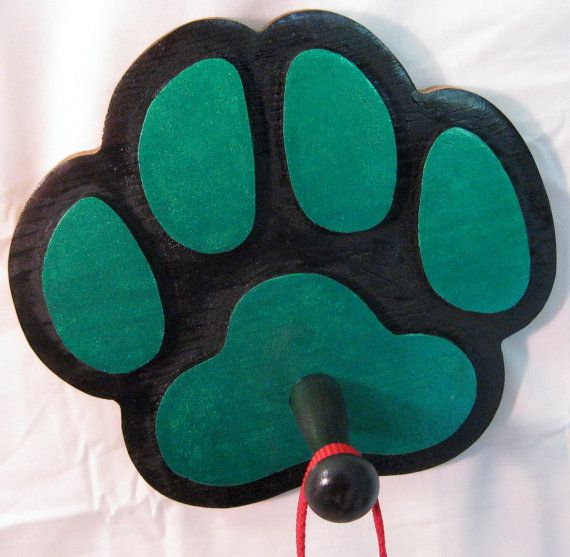 Paw Print Leash Holder  Wall Mount  by GPandSonWoodcrafting, $13.95