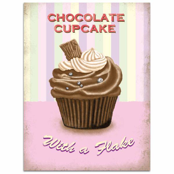 Chocolate Cupcake Tin Sign
