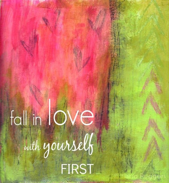 Fall in love with yourself first - © Ilaria Ruggeri personal Musa #love #selflove #mixedmedia #illustration