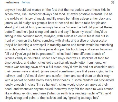 I don't see lily falling asleep at her desk, and I'm not sure the marauders would do this, but I still think it's great! :)