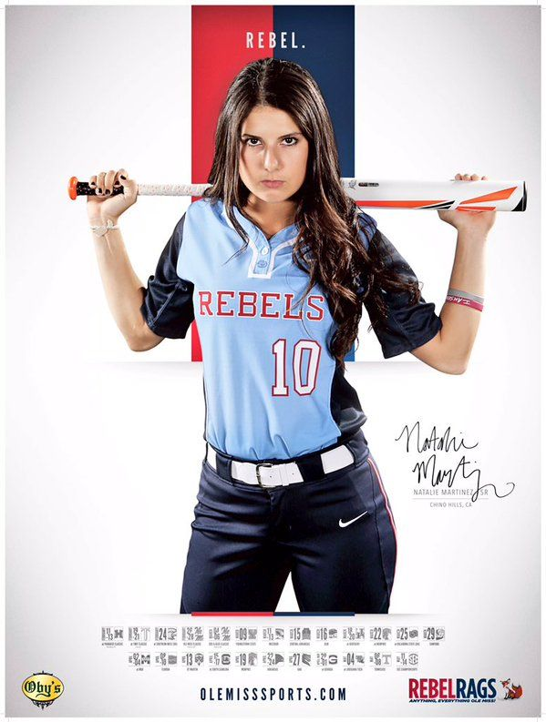 2016 Ole Miss Softball Schedule Poster