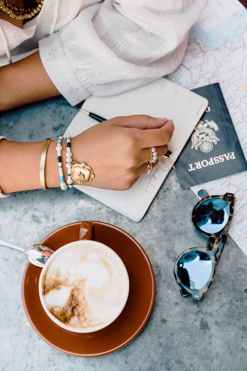 All you need is: a cup of coffee, your passport and a pair of sunnies!