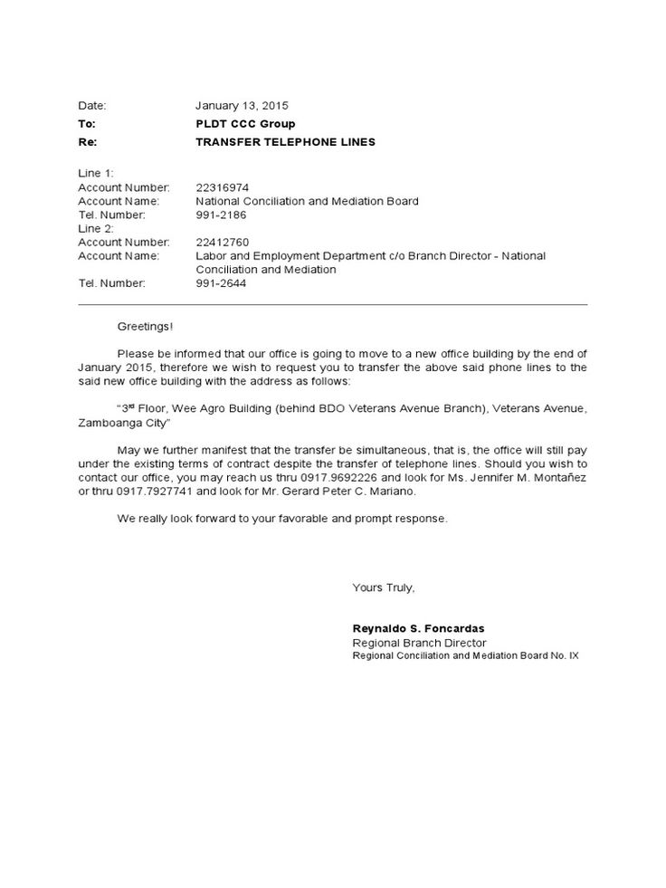 letter request for transfer lines pldt sample apology staff review - transfer request letter
