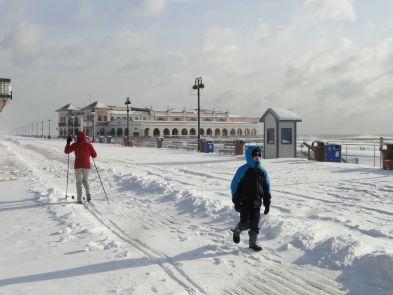 Snowy boardwalk | OCNJ | Ocean city boardwalk, Ocean city, Ocean city nj