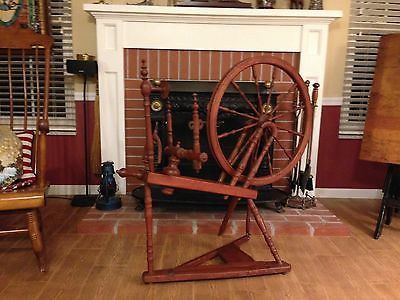 Antique Spinning Wheel Mahogany
