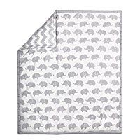 Grey Elephant and Chevron 5 Piece Crib Bedding with Bumper by The Peanut Shell