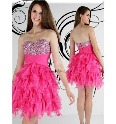 NICOLE - Cocktail dresses Homecoming dresses Princess Short/Mini Organza Beaded Queen anne/Sweetheart Occasion dress