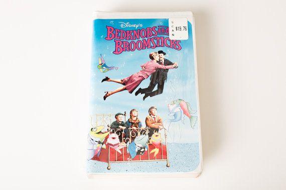 Vintage 90s Movie Walt Disney's Bedknobs and Broomsticks VHS Video Cassette Tape