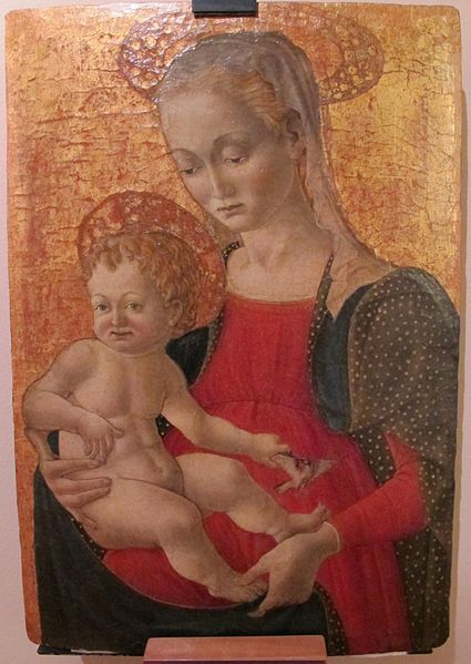[Renaissance] Maestro di pratovecchio, madonna col bambino, 1440-1460 ca..JPG