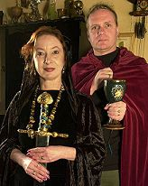 Janet Farrar and Gavin Bone :: Janet is a British teacher and author. She was initiated into Alexandrian Wicca by its founders, Alex and Maxine Sanders. She is said to be one of England's most respected modern-day witches. Gavin is an author and lecturer of magic, witchcraft, Wicca and Neo-paganism. He was initiated into Seax-Wicca in 1986. They currently live in Kells, County Meath, Ireland.