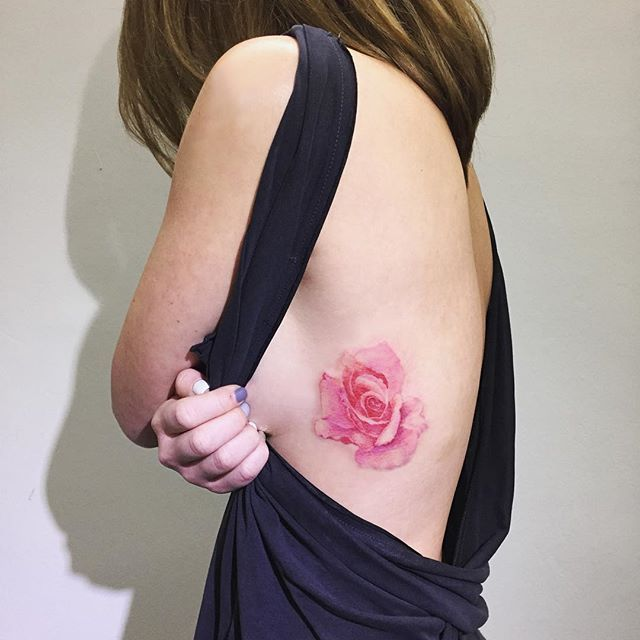 rose  멀리 싱가폴에서  Tattooist Hongdam   Seoul, Korea
