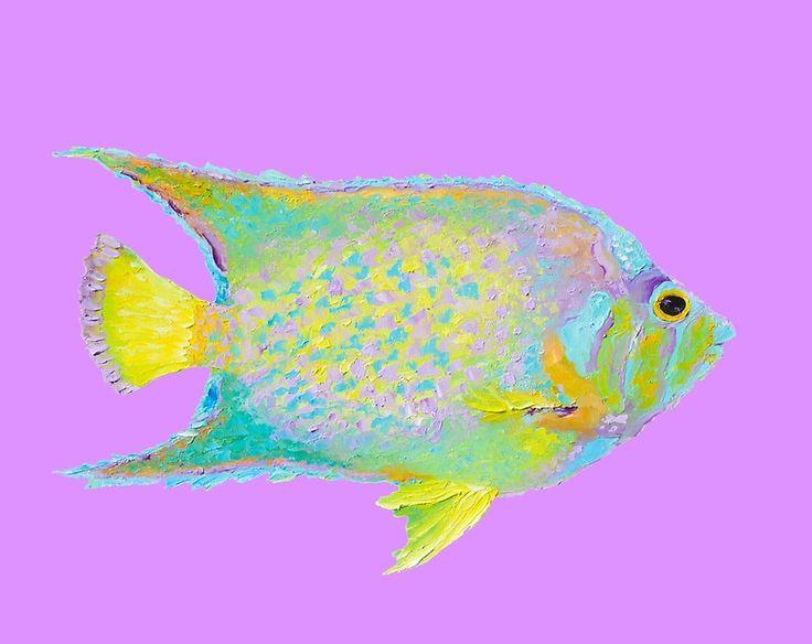 Tropical Fish painting  #tropicaldecor #tropicalart #coastaldecor #kitchendecor #bathroomart #fish