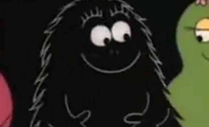 Musta ja karvainen Barbapörrö, joka on lupaava taidemaalari.