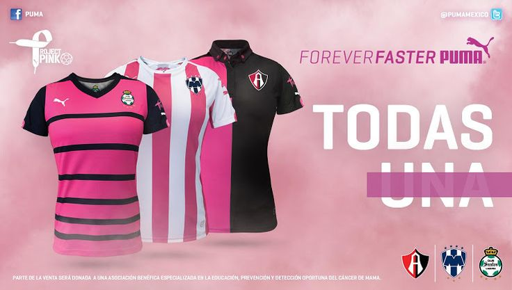 Pretty in Pink - Puma unveils Project Pink Monterrey, Club Atlas and Santos Laguna Kits - #football #Puma
