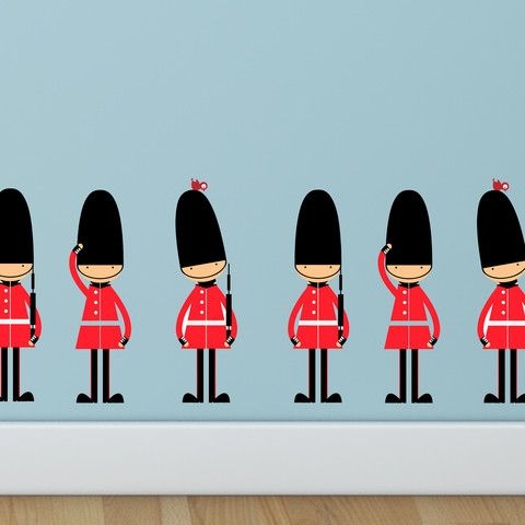 Queens Guards Wall Stickers | Parkins Interiors