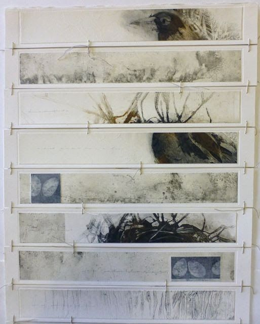 The book is made up from seven separate etchings by Susan Bower