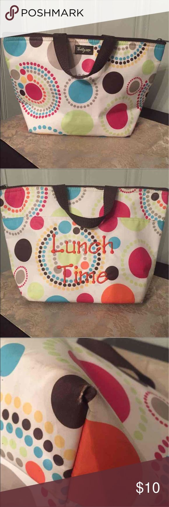 Thirty One Lunch bag Just a little worn on corners/great shape otherwise Thirty One Bags Totes