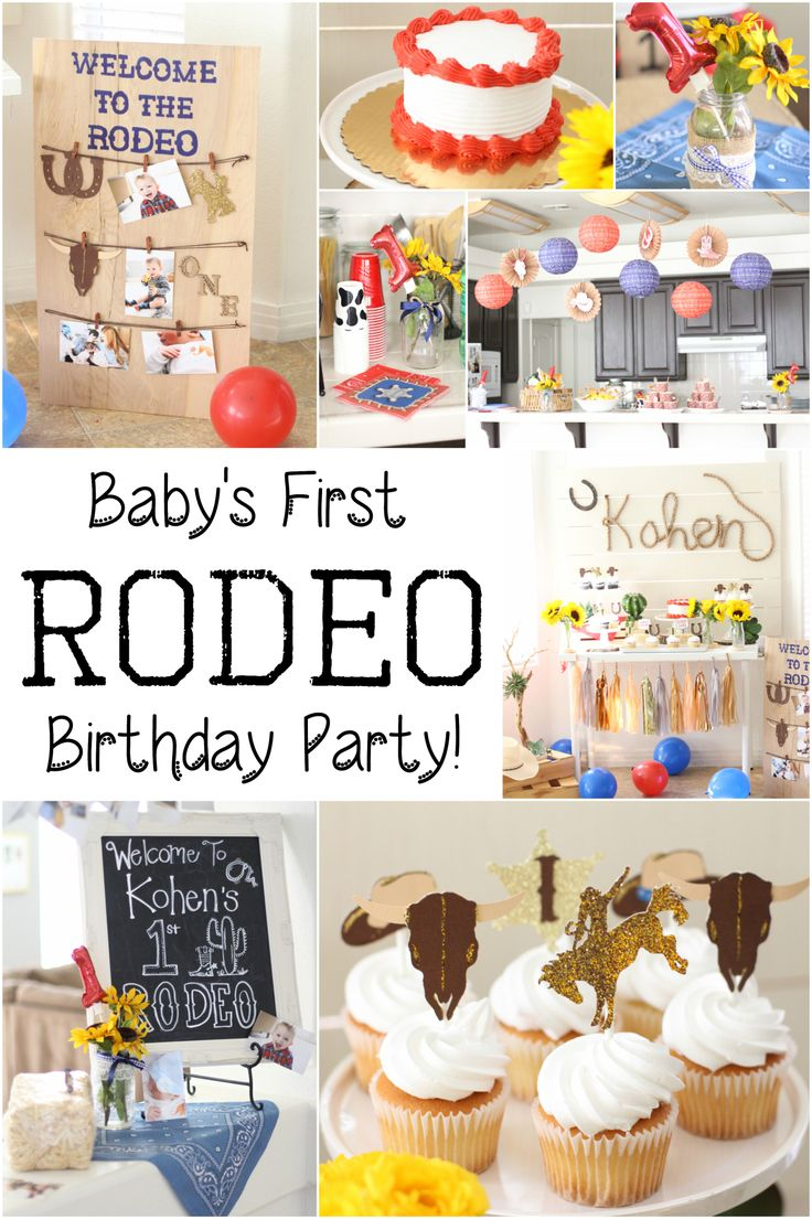 It may not be your first rodeo, but it was Kohen's!   Our little man recently celebrated his first birthday so we partied cowboy style throwing him his first rodeo!  For first birthday partie…