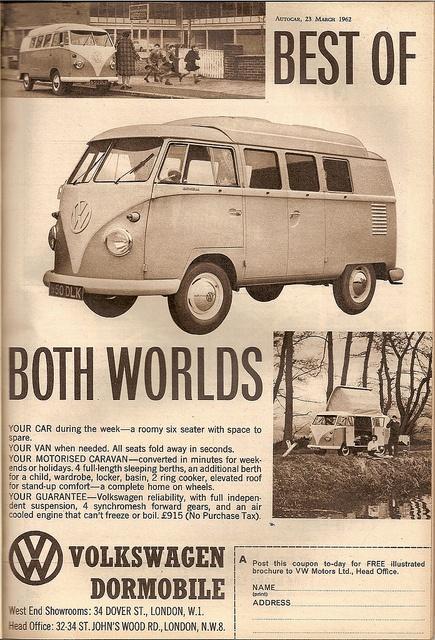 Volkswagen Dormobile T1 Split Screen Kombi Advert 1962 by Trigger's Retro Road Tests!