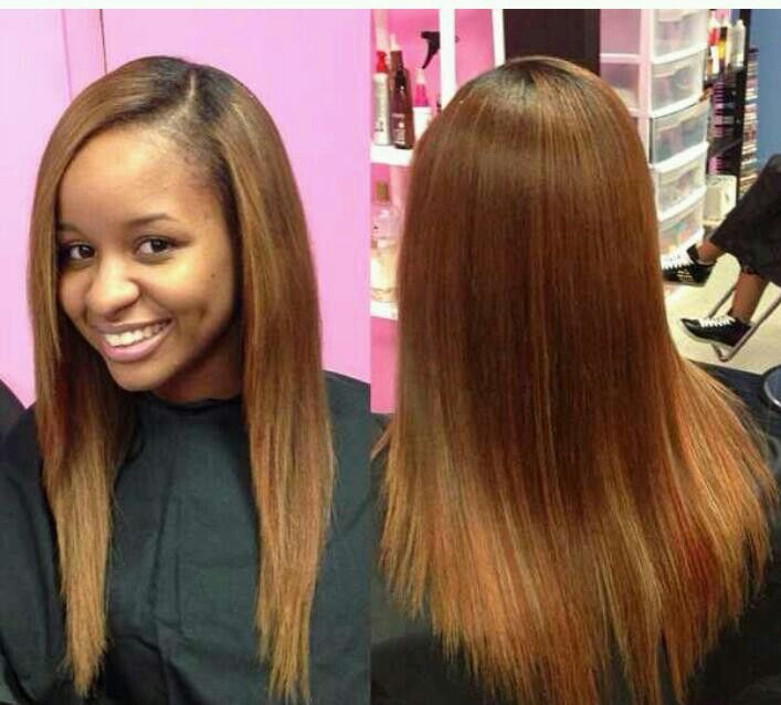 straight hair1 Celebrity Straight Weave Hairstyles ...
